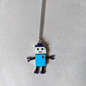 Forever 21 Robot Necklace